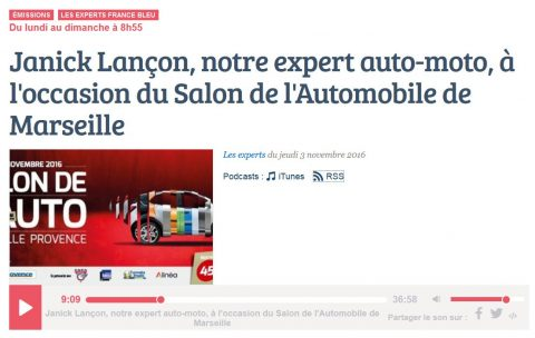 France bleu provence re oit janick lan on expert auto l for Salon auto marseille
